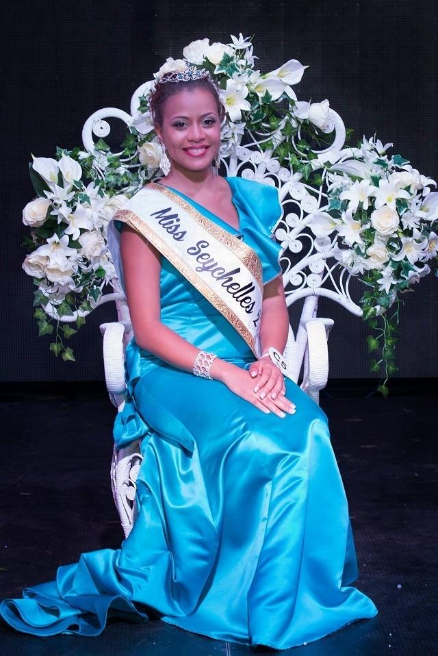 Hilary Joubert couronnée Miss Seychelles another World 2017
