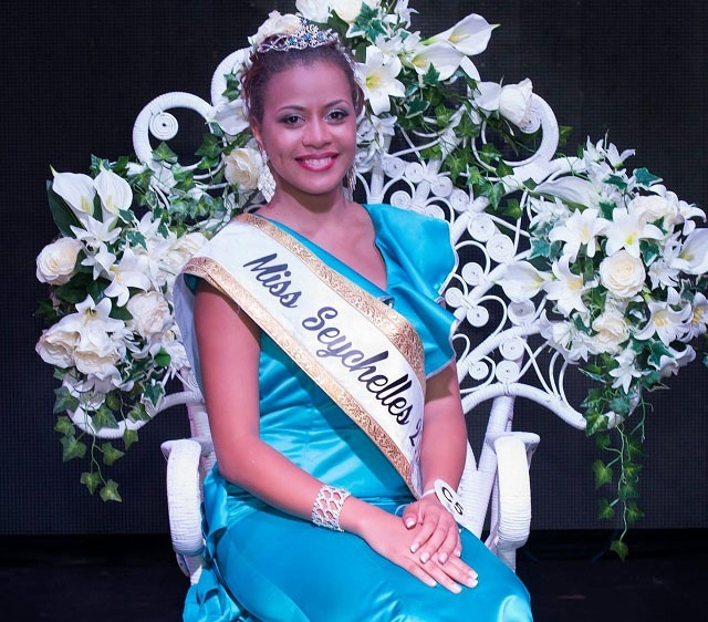 Happy and surprised, Hillary Joubert wins Miss Seychelles crown