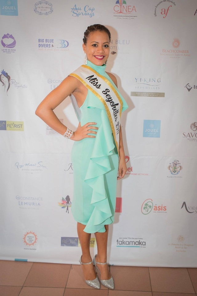 Miss Seychelles leaves for global beauty pageant in China
