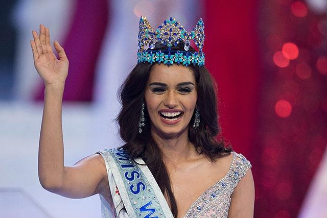 Une Indienne couronnée Miss Monde