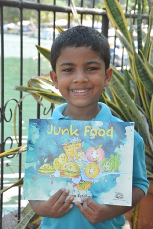 4-year-old in Seychelles author of book warning of dangers of junk food