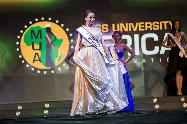 Seychellois beauty queen wins video award during Miss University Africa