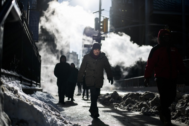 Heavy Snow And High Winds Pound The East Coast