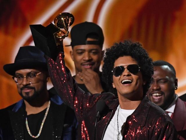 Bruno Mars' '24K Magic' wins Record of Year Grammy