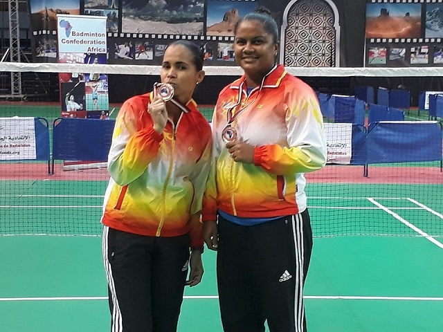 Seychelles wins gold in badminton women's doubles in African championship