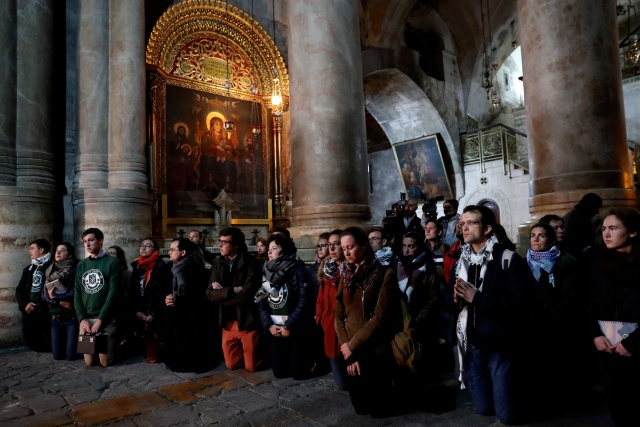 Church at Jesus's traditional burial site reopens after protest