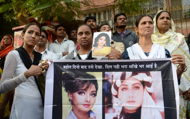 India says farewell to Bollywood icon Sridevi