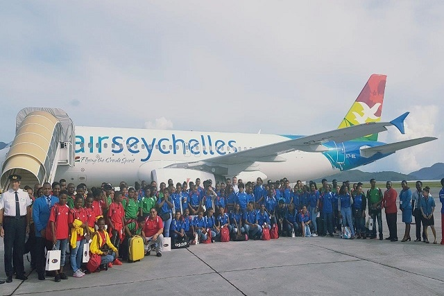 Air Seychelles charter transports Seychellois athletes to Djibouti for CJSOI games