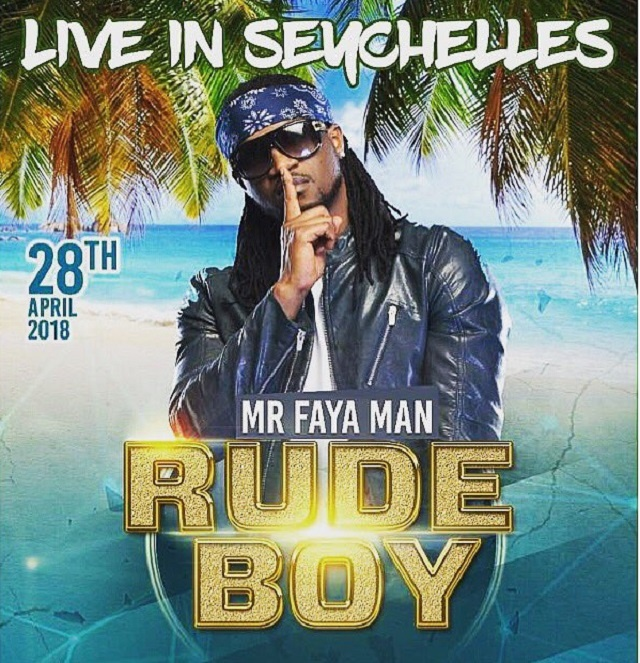 Nigerian singer Rudeboy expects huge concert Saturday night in Seychelles