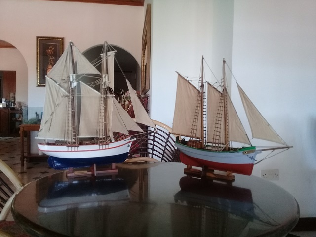 Seychellois couple builds model schooners to promote history of travel across island nation