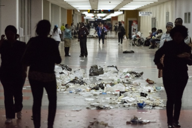 Protests paralyse top Johannesburg hospital
