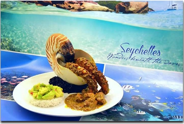 Spicy octopus coconut curry wins 1st prize in Seychelles Tourism Board photo competition