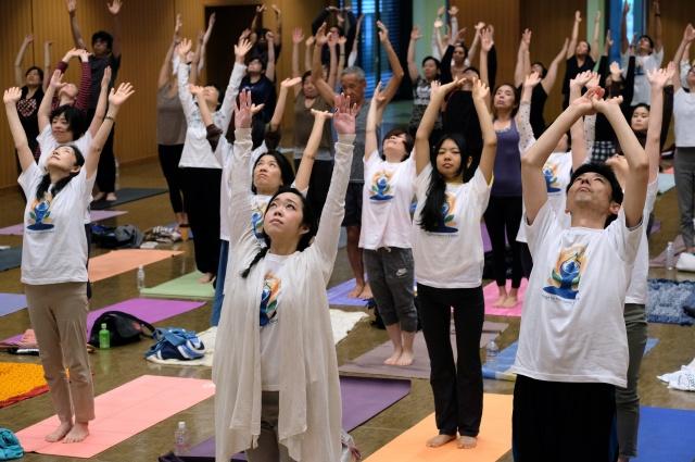 Strike a pose: International Yoga Day stretches around world