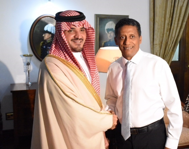 President of Seychelles meets with head of delegation from Saudi Arabia