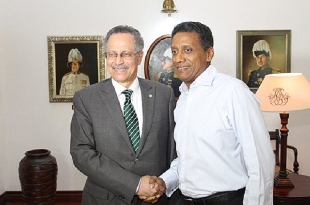 Blue Economy, value-added trade dominate meeting with Seychelles' President and leader of African, Caribbean Pacific Group.