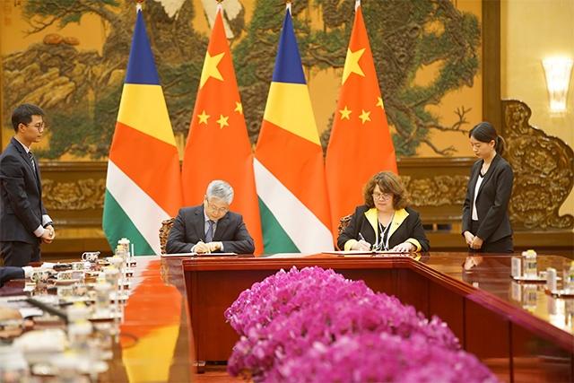 La Chine a fait don de plus de 7 millions de dollars $ aux Seychelles.