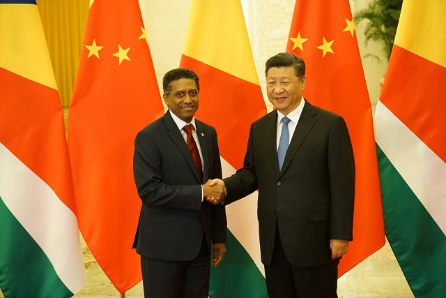 Seychelles and China sign agreements as president of island nation continues visit