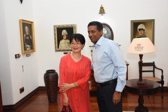 Après avoir encadré l'augmentation de l'aide chinoise, l'ambassadeur aux Seychelles dit au revoir