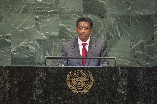 President of Seychelles reminds UN General Assembly of needs of small island states