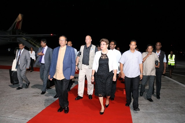Sri Lanka's president arrives in Seychelles on first state visit of President Faure's term