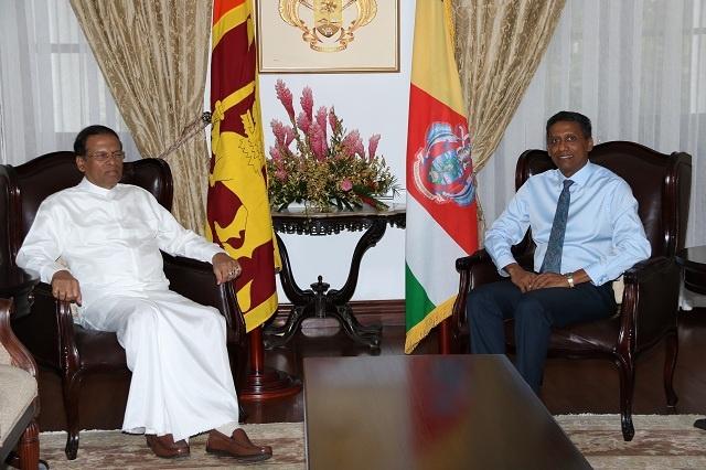 Presidents of Seychelles, Sri Lanka meet, discuss tourism, commerce, health