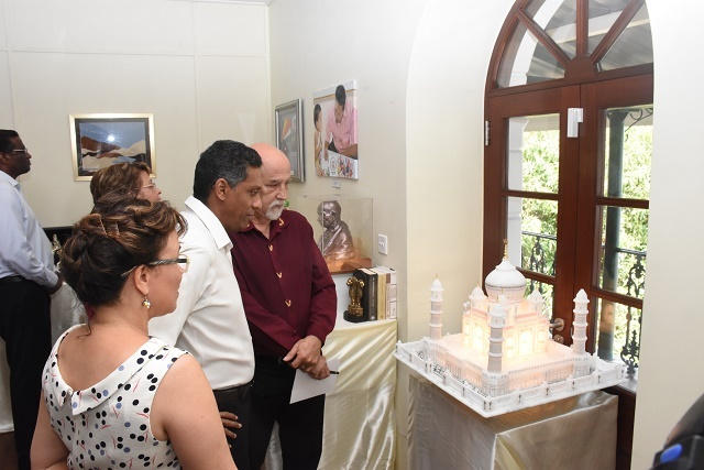 Marking 2 years in office, Seychelles' president exhibits 160 gifts given to his office