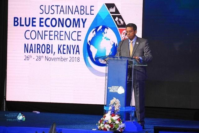 Le président des Seychelles s'engage à investir davantage dans l'économie bleue lors d'une conférence au Kenya