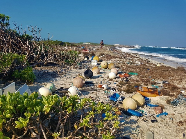 Seychellois experts study ocean litter problem alongside other UNESCO World Heritage site managers