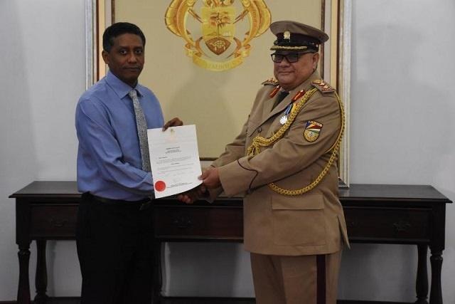 Le colonel Clifford Roseline nommé nouveau chef des Forces de défense du peuple des Seychelles