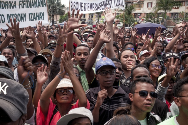 Opposition protests over Madagascar vote result