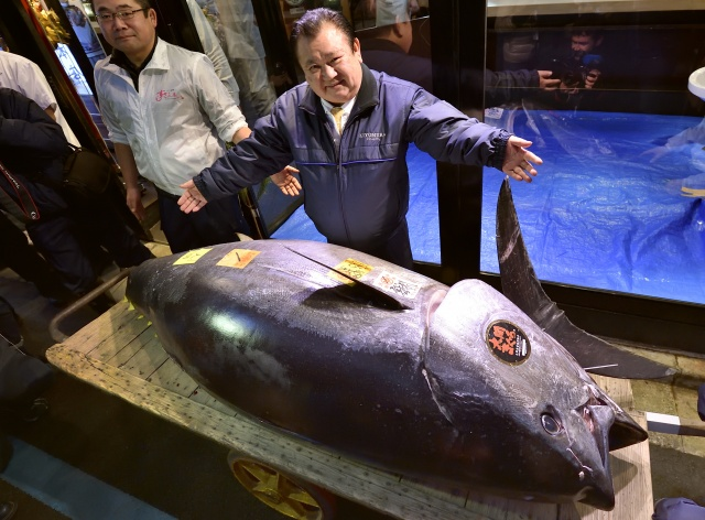 Record $3.1 million paid in New Year's tuna auction at Japan's new market