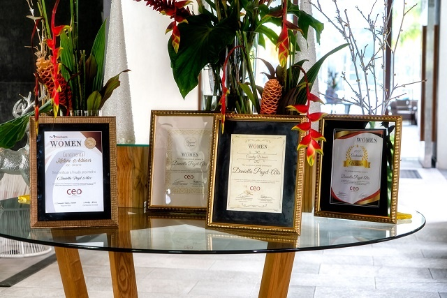 Three Seychellois women recognized for contributions in the island nation's development