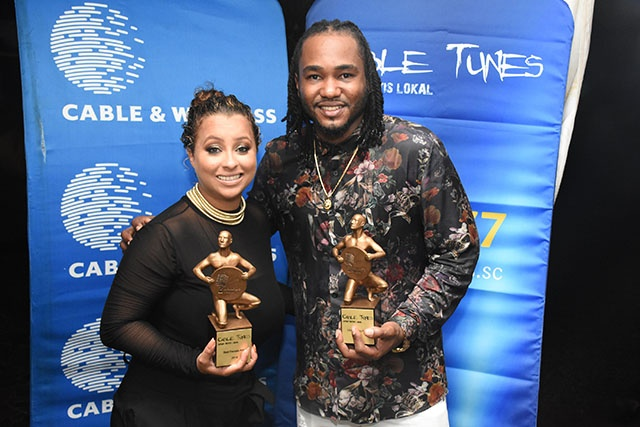 Sandra Esparon and Mercenary named as Seychelles' best female and male artists for 2018