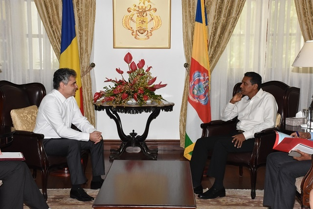 First-ever Romanian ambassador to Seychelles visits island nation, meets president