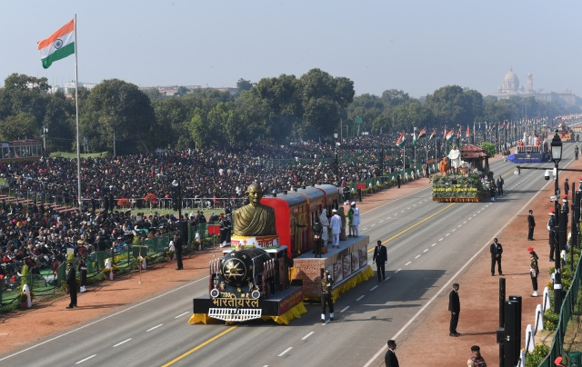 Camels, stunts and military might as India marks Republic Day