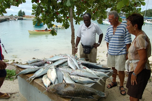New fish market on Seychelles' third island a boon for fishermen, consumers