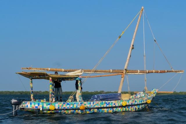Plastic dhow sails Kenya coast to highlight waste crisis