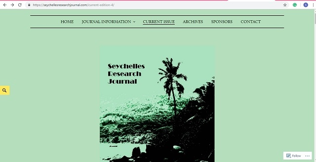 Seychelles Research Journal provides new platform for studies conducted in island nation