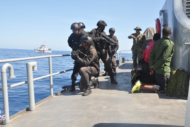 Seychellois military participating in 8th edition of US-led maritime exercise Cutlass Express