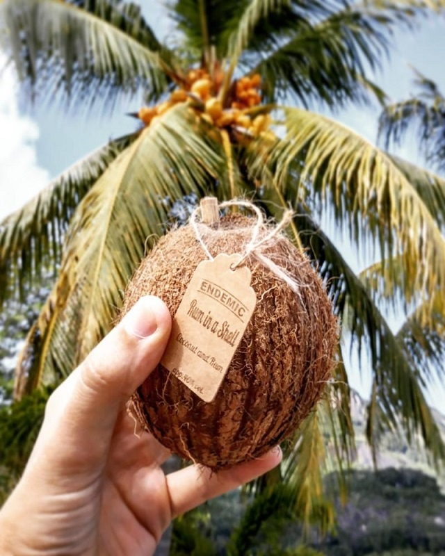 Rum in a coconut? Seychellois entrepreneur sells two island staples together