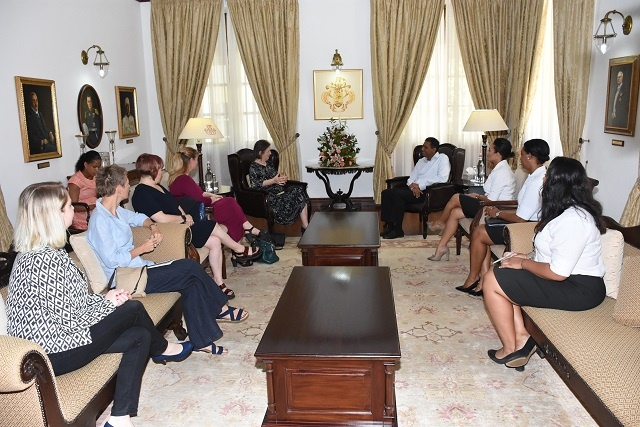 Commonwealth's role in good governance, human rights part of discussion with Seychelles' president