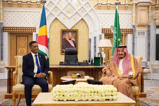 Le président des Seychelles Danny Faure est en Arabie Saoudite.