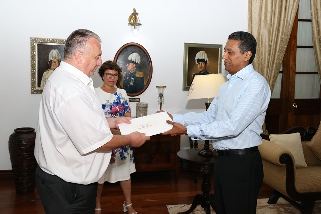 Czech ambassador, Seychelles' President talk about art and health sector in diverse meeting