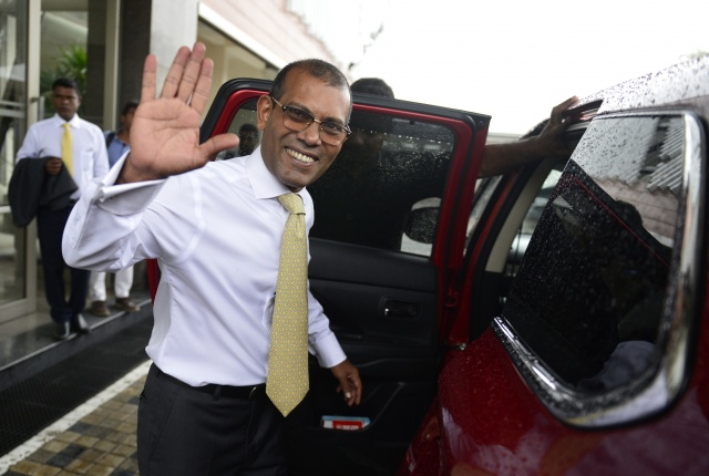 Party of exiled former Maldives leader wins historic victory