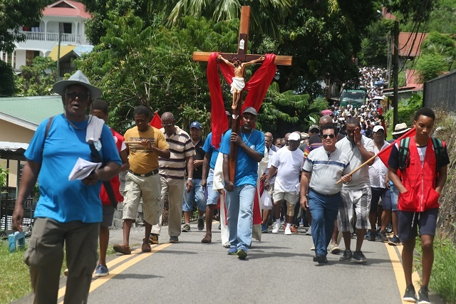 Seychellois Mark Good Friday with prayers, chants during Way of the Cross procession