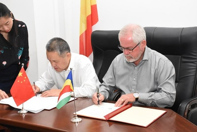 Seychelles and China sign two deals to advance trade between the nations