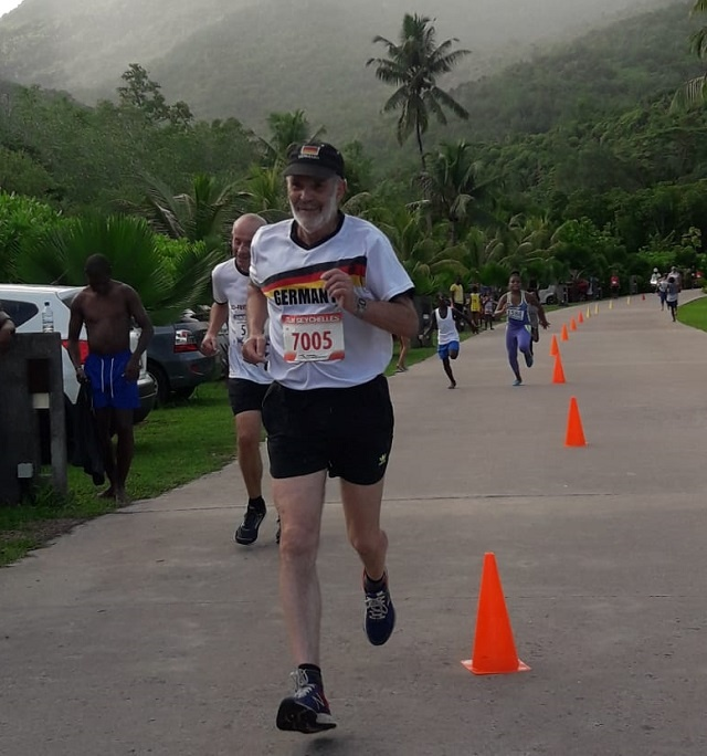 German runner makes Seychelles his 124th country he has competed in
