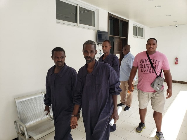 Seychelles Supreme Court charges 5 suspected Somali pirates