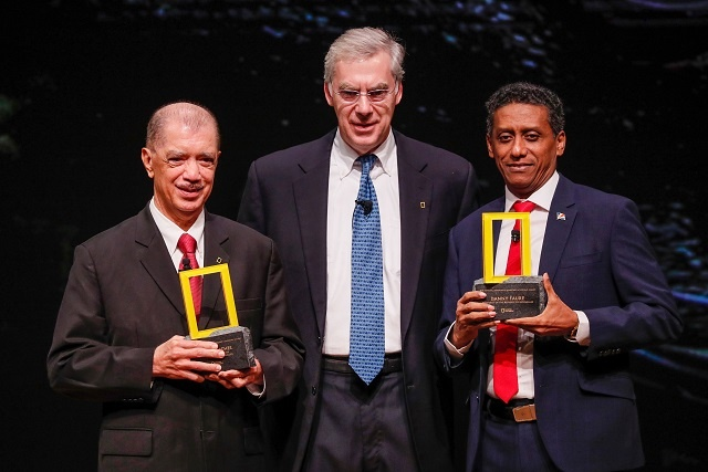 Feted in Washington, Presidents of Seychelles -- Faure and Michel -- honoured by National Geographic Society for planetary leadership