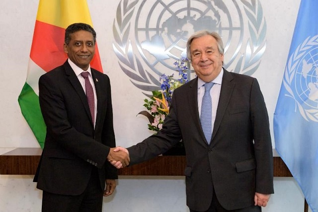 UN secretary-general commends Seychelles' leadership as ocean conservation champion